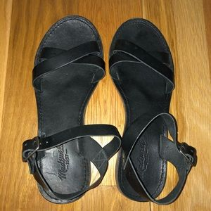 Madewell black sandals - size 8.5